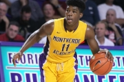(2) Marcus Carr, of Montverde Academy, runs the floor during the 2016 Culligan City of Palms Classic